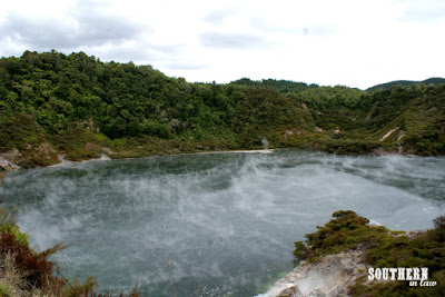 Frying Pan Lake at Waimangu Volcanic Valley New Zealand