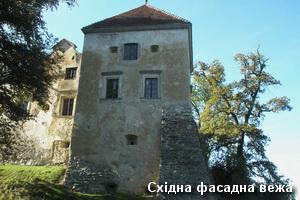 Східна вежа фасаду замку