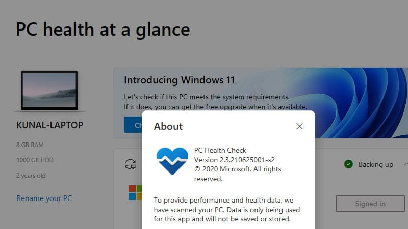 PC Health Check v2.3 now tells you why your device is ineligible for Windows 11