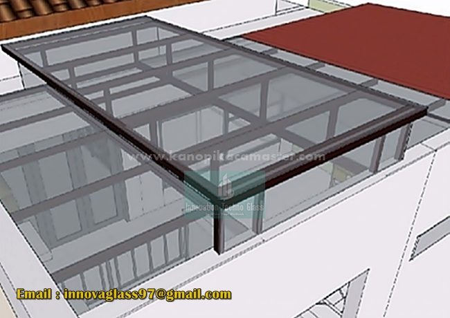 Atap Kaca Rumah Minimalis Modern