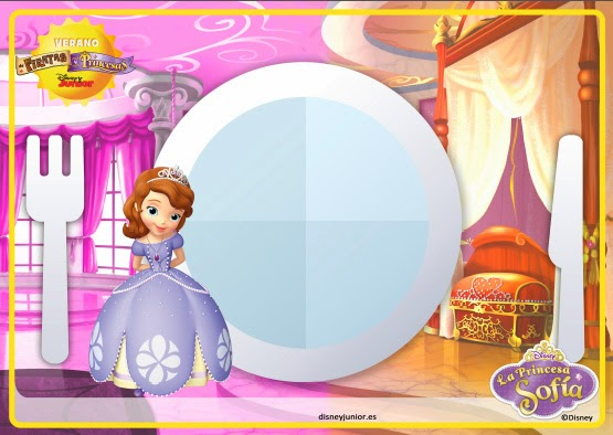 Sofia the First Free Printable Place Mat.