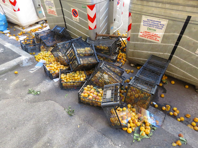 Wasted fruit, Via Di Franco, Livorno