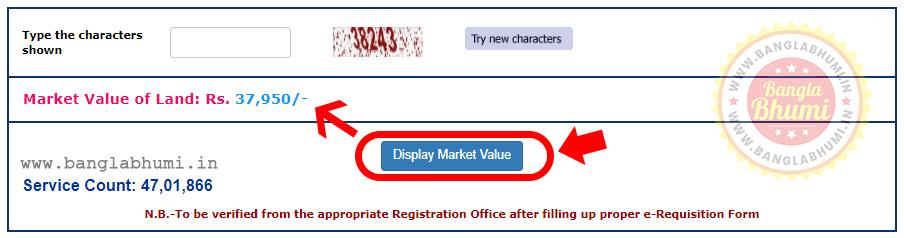 Find wbregistration.gov.in Market Value of Land