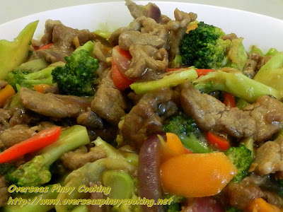 Pork and Broccoli Stirfry