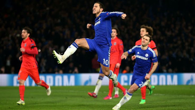Eden Hazard says he's happy at Chelsea, but he hasn't ruled out a move to PSG.