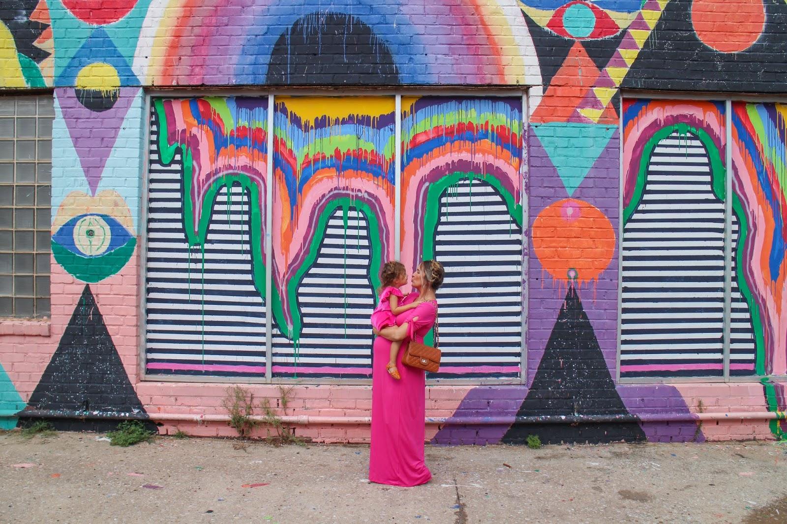 Hot Pink Maternity Maxi Dress