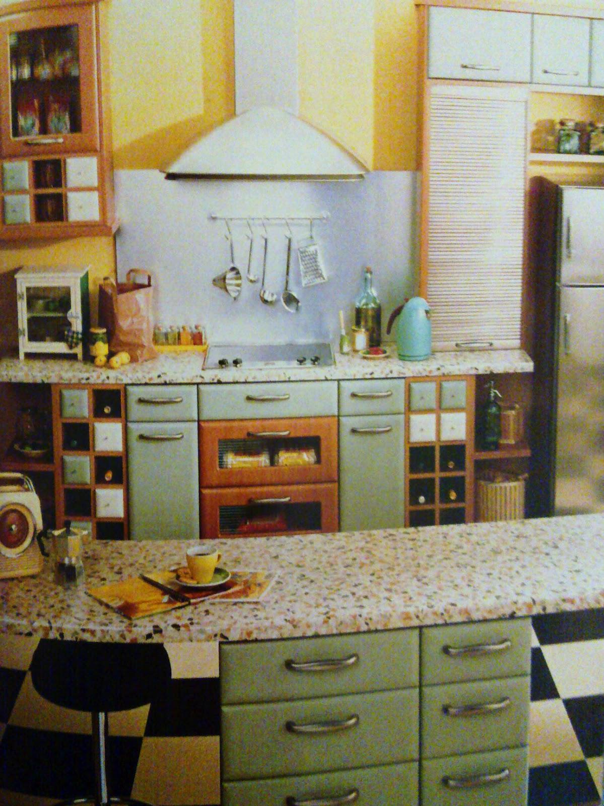 PandyInteriorDesigner: Kitchen of Retro Style - research - Kitchen Table Styles Through The Decades