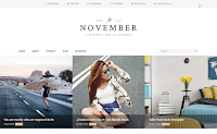Theme Themexpose Download November Blogger Blogspot Template Gratis Premium