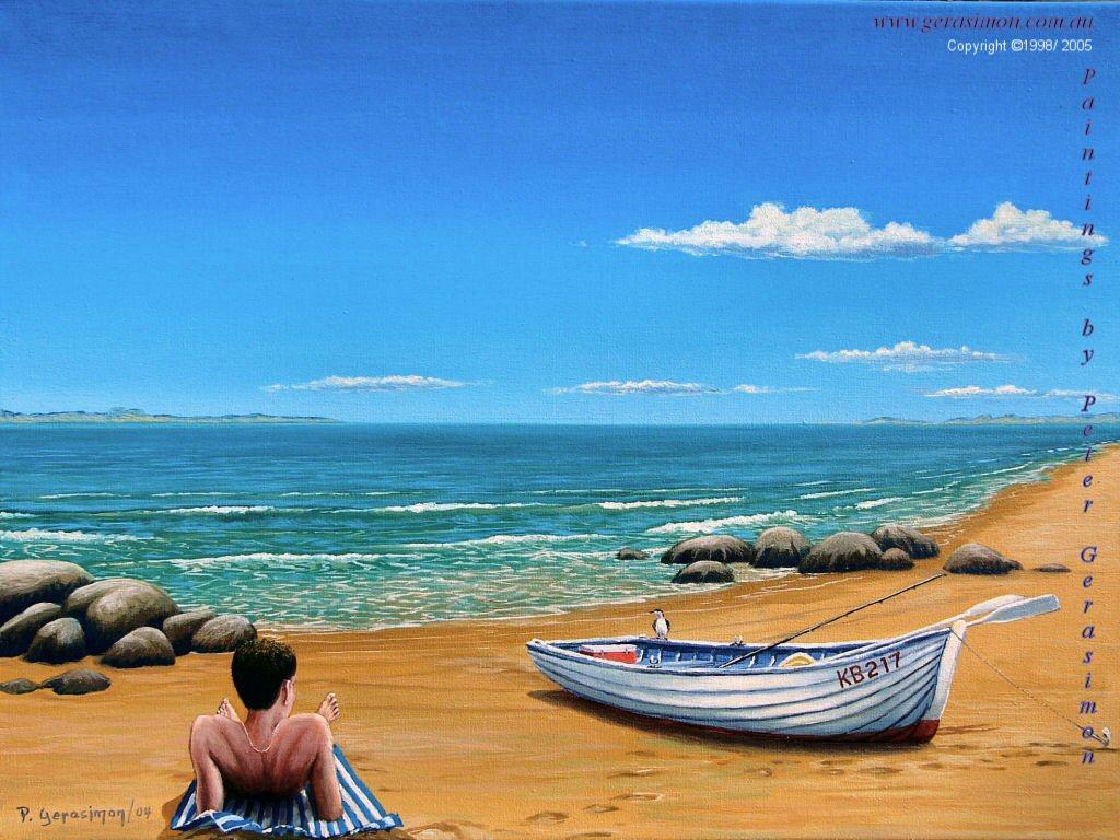 Imagination Painting Beach Paintings