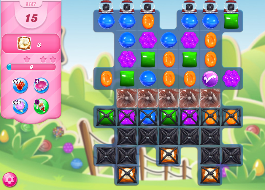 Candy Crush Saga level 3157