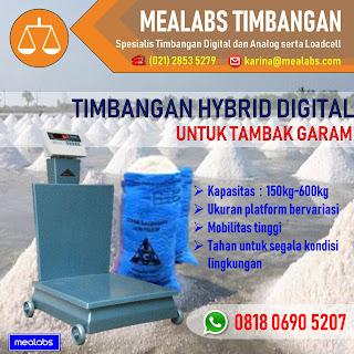 Timbangan Hybrid Digital untuk Tambak Garam