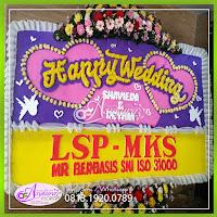Toko Bunga Papan Happy Wedding BPWD-004