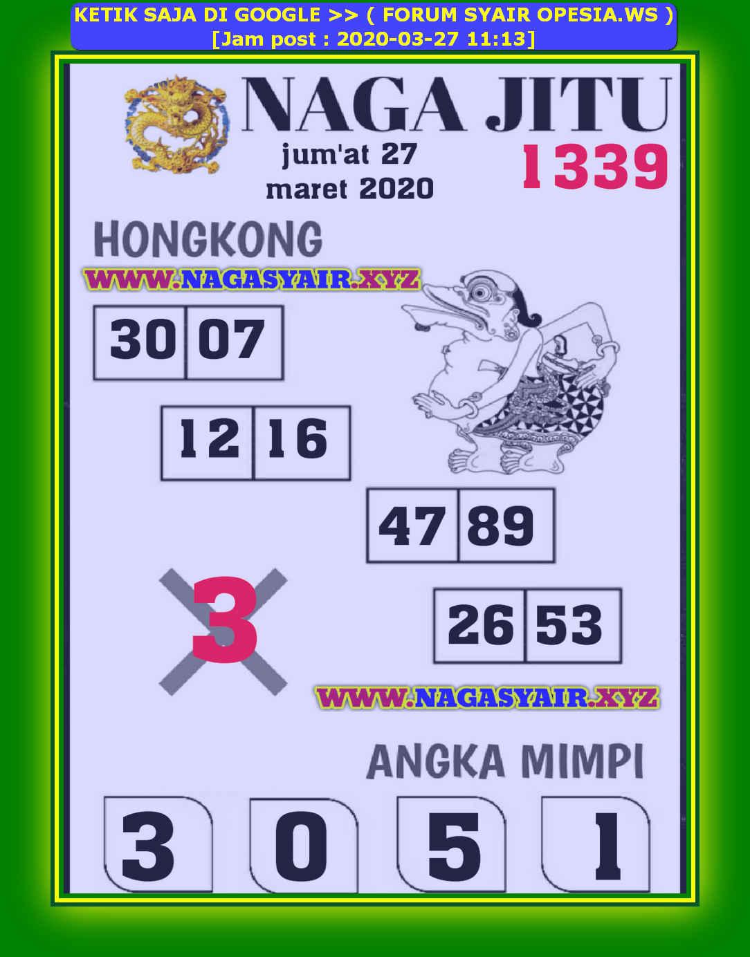 Kode syair Hongkong Jumat 27 Maret 2020 182