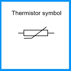 a thermistor is an electronic component that resistance change (decrease or  increase depends on model) when temperature increase or decrease