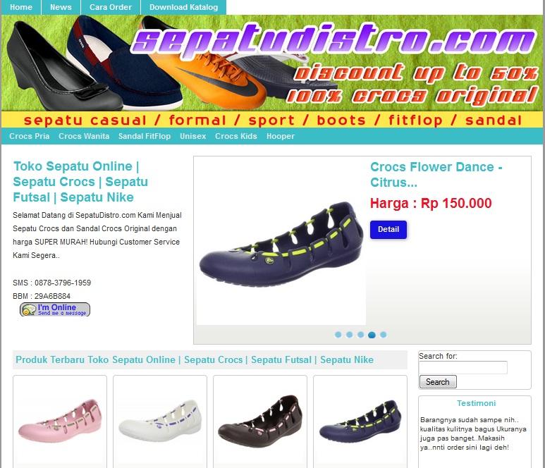 Www Sepatudistro Com Pusat Belanja Sepatu Dan Sandal Crocs