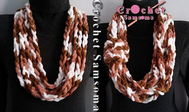كروشيه سكارف دائري باسهل طريقة .  كروشيه سكارف دائري .  crochet scarf rond. كروشيه كوفية .  crochet scarf .   How to crochet a Round Scarf  . كروشيه  .  Crochet Beginner .  Easy Crochet Infinity Scarf