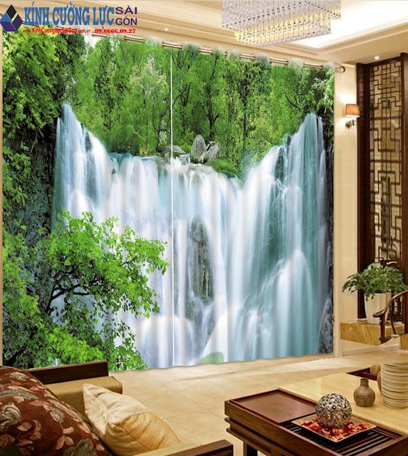 Ý nghĩa bức tranh kính thác nước chảy