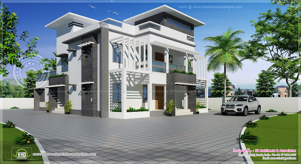 2491 Sq-ft Double Storied Elevation Home Kerala Plans