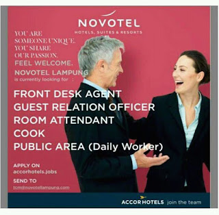 Open Recruitment from Novotel Hotel Lampung April 2017
