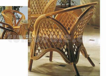 sillón en rattan natural j87