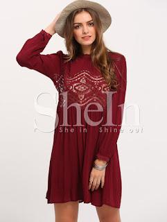 www.shein.com/Burgundy-Long-Sleeve-Hollow-Dress-p-241713-cat-1727.html?aff_id=5061