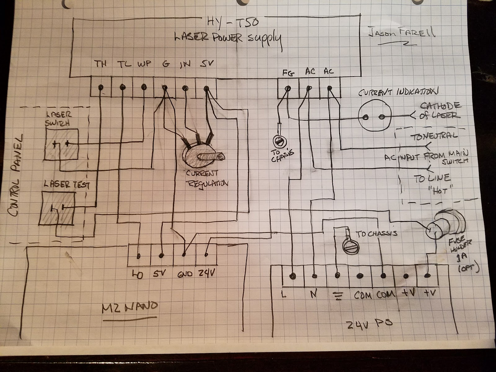 small resolution of special wiring for this supply note part at top of drawing