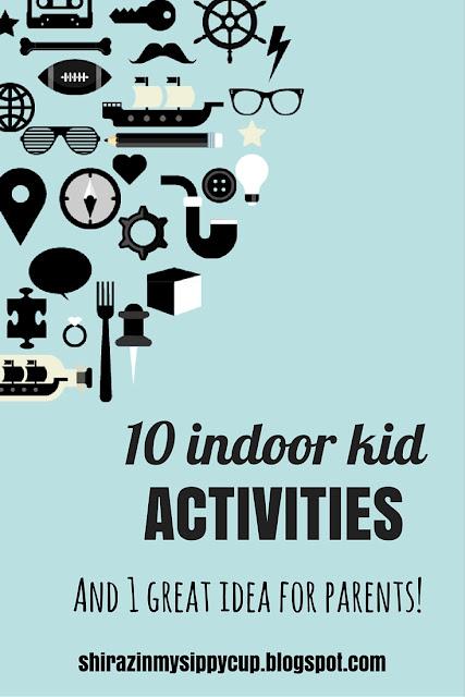 10 Indoor Activities for Kids for Bad Weather Days. #parenting #indooractivities #kids #playtime
