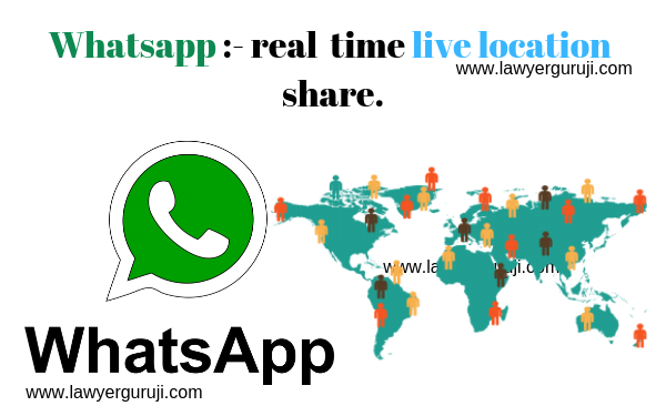 Whatsapp real time live location share.