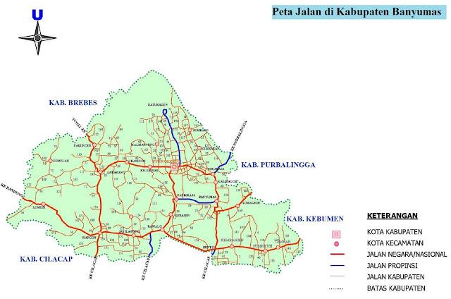 Peta Kabupaten Banyumas HD Lengkap