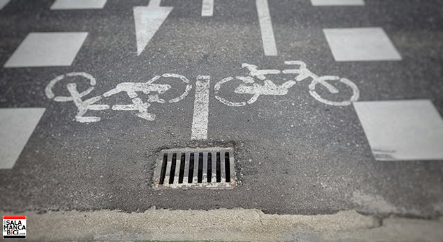 salamanca carril bici alcantarilla peligrosa