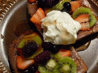 We Can Begin To Feed Baked French Toast With Fruit And