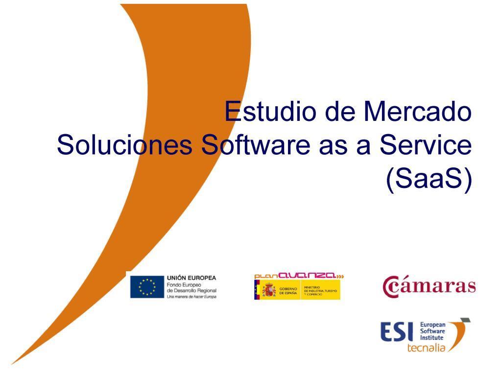 Estudio de Mercado Soluciones Software as a Service (SaaS)