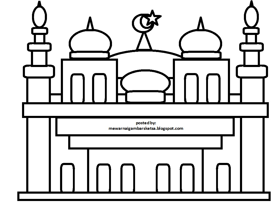 Aneka Gambar Mewarnai Masjid