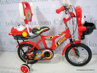 Sepeda Anak Pliko Speed Musik dengan Sandaran