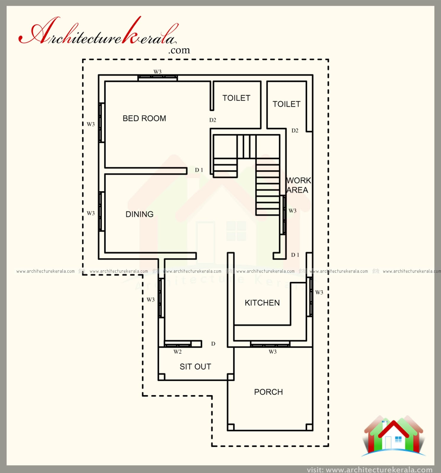 1600 square feet kerala style house plan architecture kerala for 1600 sq ft house floor plans