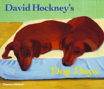 David Hockney, Dog Days - painting dogs using the smallest number of marks