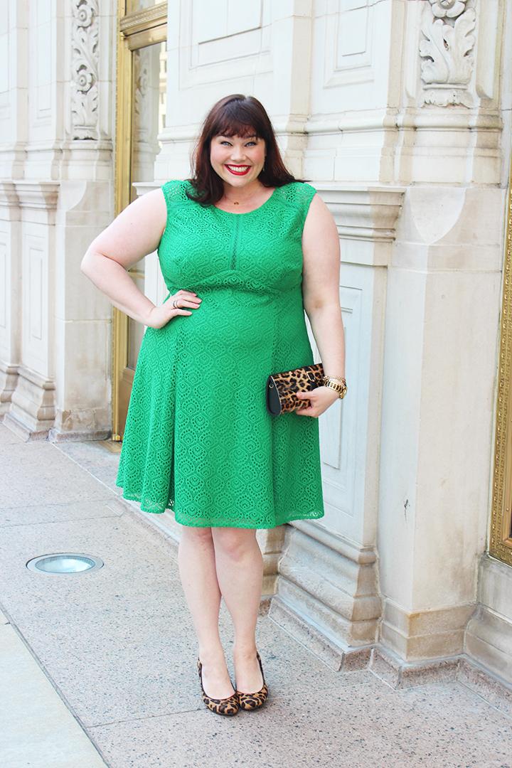 London Times Green Lace Plus Size Dress - Sample Sale Ends Tomorrow!