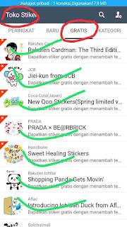 download sticker line gratis dari negara jepang