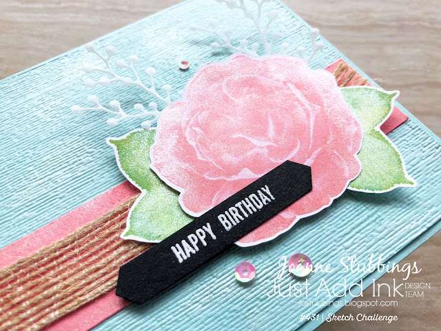 Jo's Stamping Spot - Just Add Ink Challenge #431 using Healing Hugs stamp set by Stampin' Up!