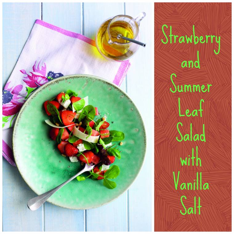 Strawberry And Summer Leaf Salad With Vanilla Salt