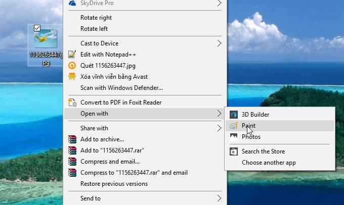 Cắt ảnh (crop ảnh) bằng Paint trong Windows