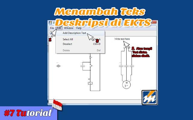 Menambah Teks Deskripsi di EKTS - Tutorial Bahasa Indoneisa #7