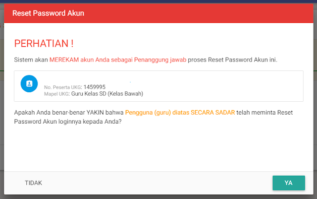Cara Reset Password SIM PKB 2017