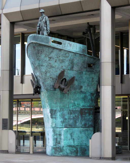 International Seafarers Memorial by Michael Sandle, International Maritime Organization Headquarters, Albert Embankment, Lambeth, London