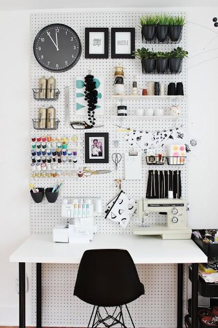 peg board ideas from Pinterest