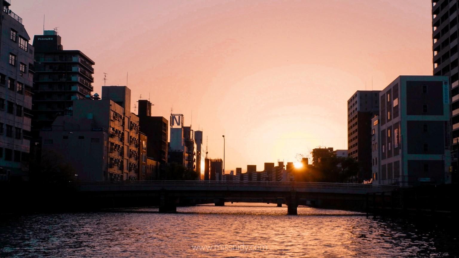 sunset spot in osaka
