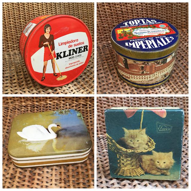 decoração vintage, latas, vintage, antigas, loja vintage