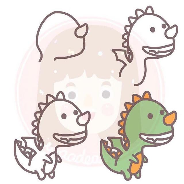 Cara menggambar naga  untuk anak-anak