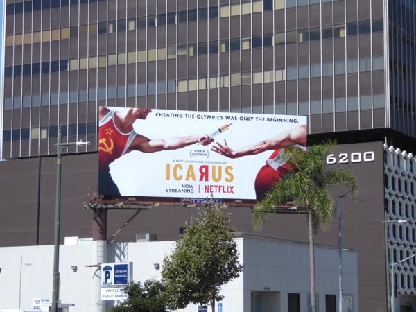 Icarus documentary film billboard