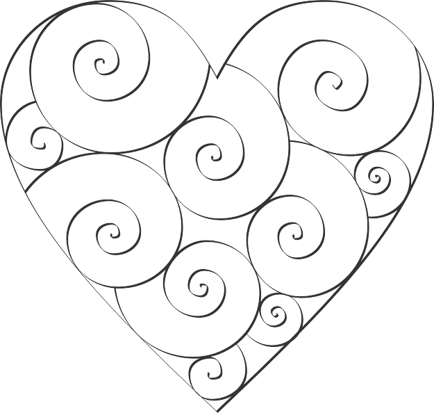 Warm Heart To Color  Modern Design Hearts Az Coloring Pages The Of  Roses